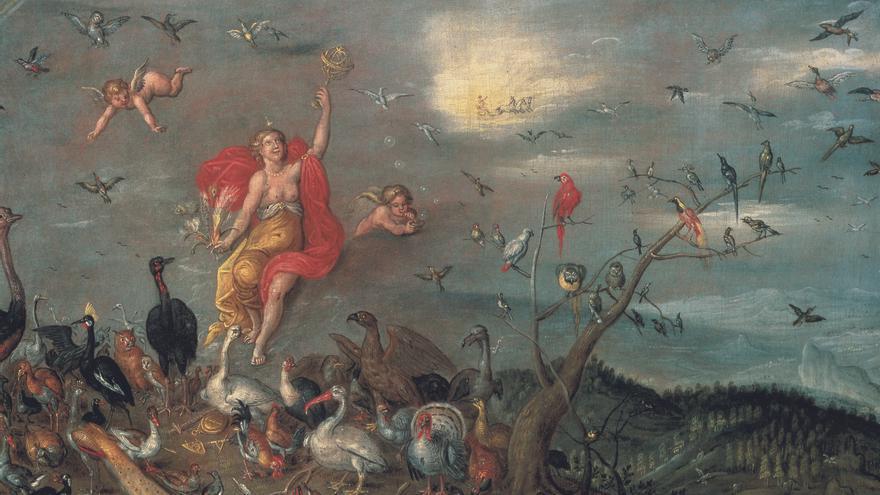 Alegoría del Aire, Ambrosius Brueghel (ca.1645) cortesía Arthemisia España