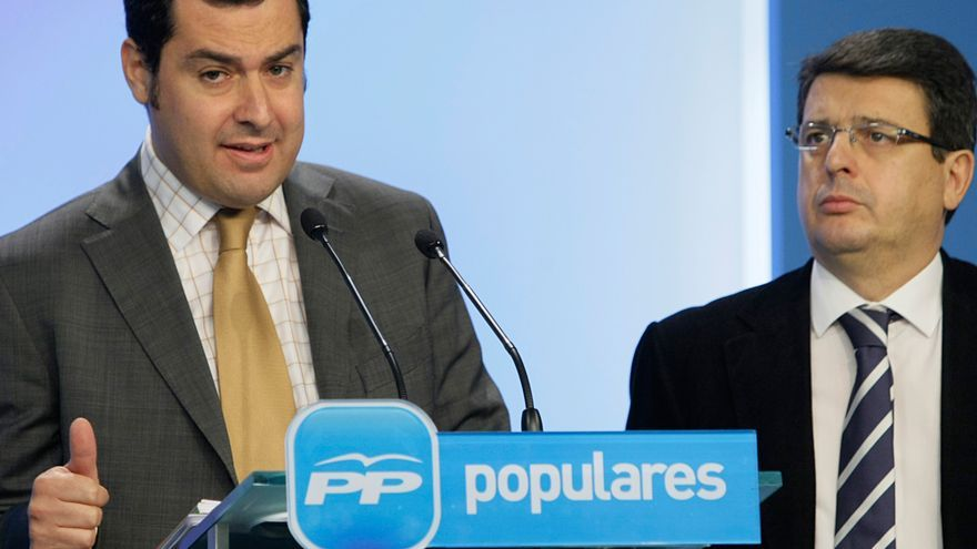 Juan Manuel Moreno Bonilla y Juan José Matarí Sáez