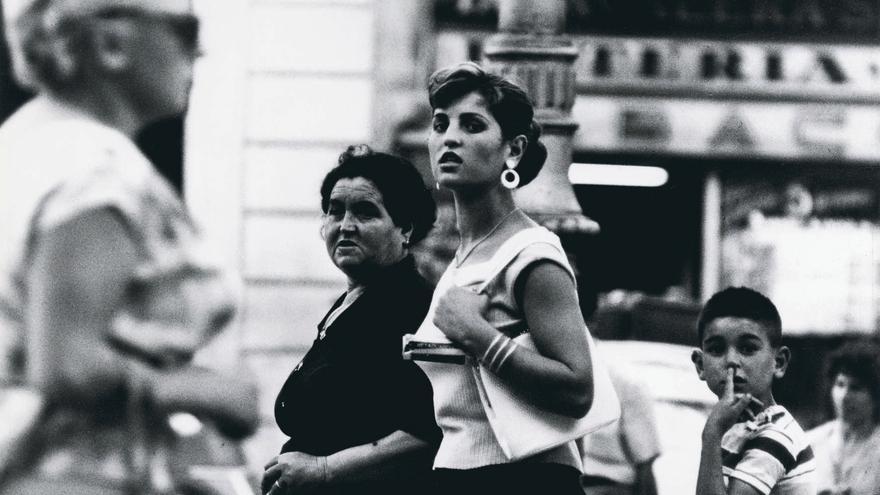 Imagen de la Rambla en 1957
