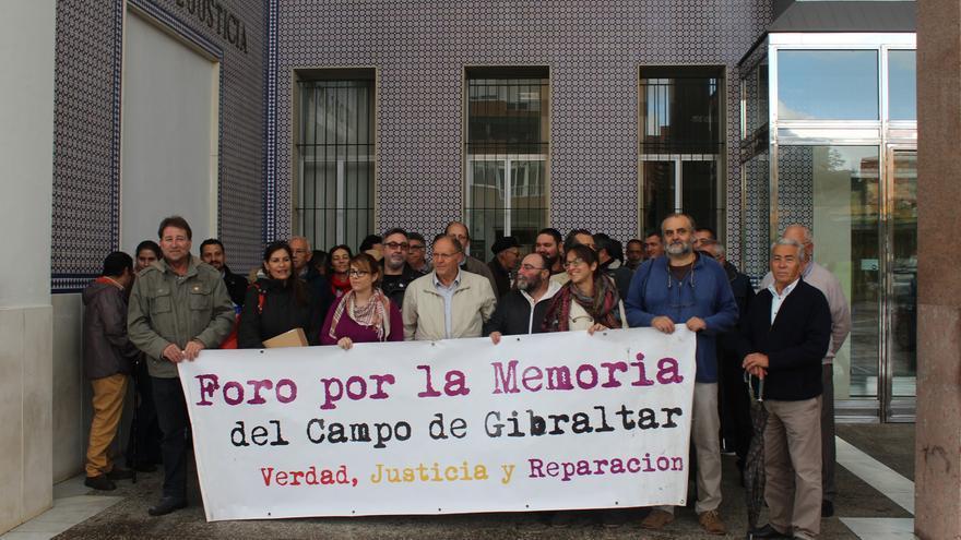 José Ortega, acompañado en los juzgados de Algeciras.