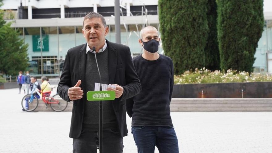 El coordinador de EH Bildu, Arnaldo Otegi, en una comparecencia en Vitoria