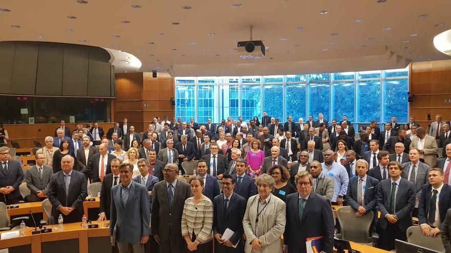 Encuentro de Asprocan con la regiones ultraperiféricas en Bruselas.