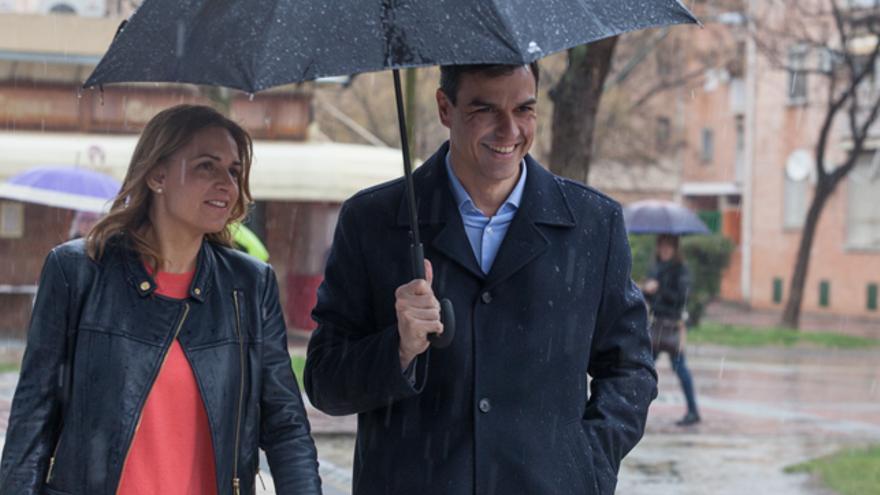 Susana Sumelzo y Pedro Sánchez   Foto de archivo.