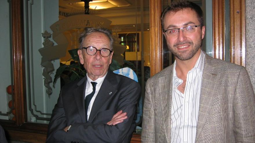 Rafael-José Díaz (derecha), junto a Philippe Jaccottet