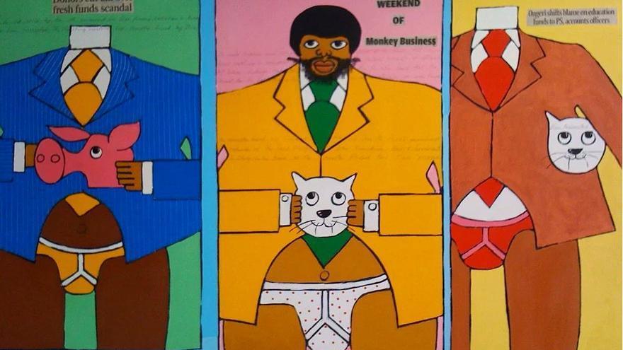 'The Fat Cats' por Michael Soi // kimaniwawanjiru.com