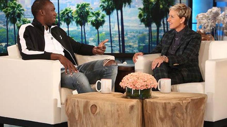 """Ellen DeGeneres, acusada de """"racista"""" por un meme con Usain Bolt"""