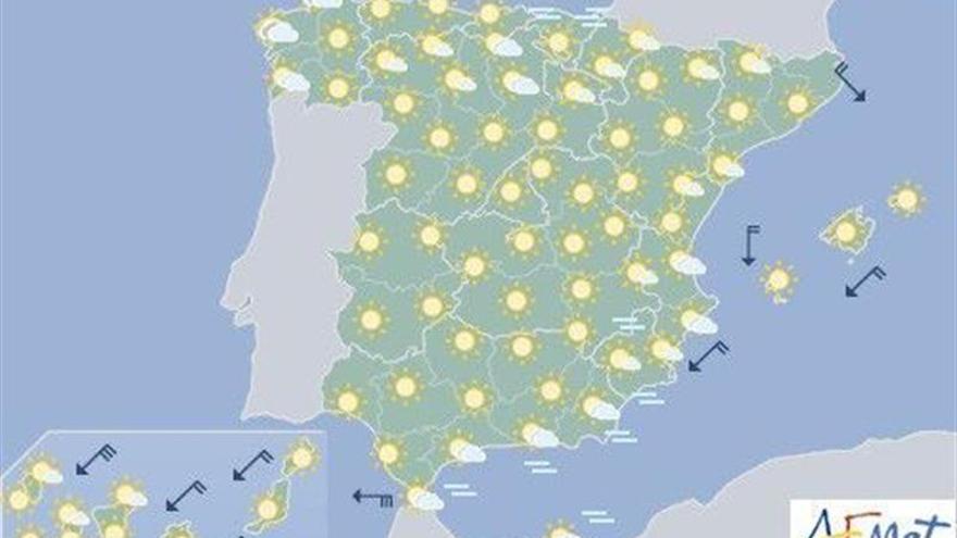 Hoy, ascenso de las temperaturas diurnas