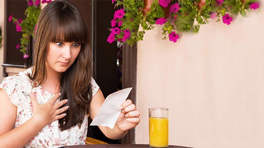 En ocasiones, la cuenta en el restaurante puede sorprender. Foto: Kontsumobide