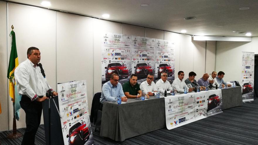 Acto de presentación de la 43 edición del Rallye La Palma Isla Bonita.