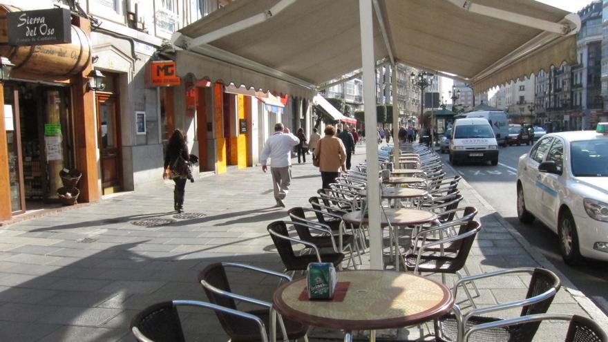 Archivo - Terraza de un bar