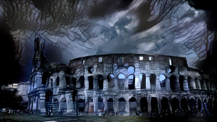 El Coliseo, convertido en escenario de terror por obra y gracia de un algoritmo