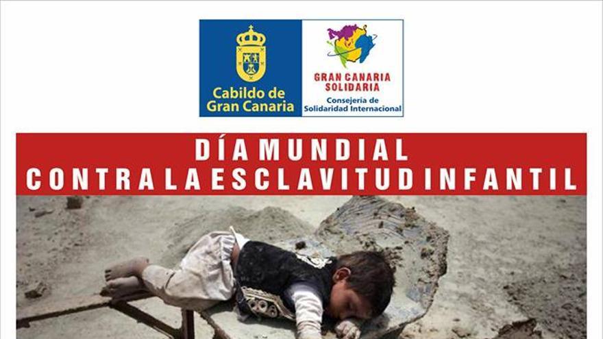 Cartel por el Día contra la Esclavitud Infantil.
