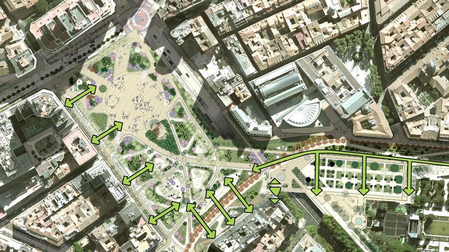 Aspecto final de la Plaza de España tras las obras y nuevas conexiones creadas   AYUNTAMIENTO DE MADRID