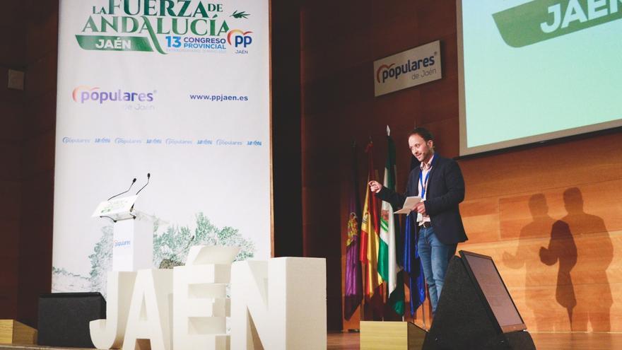 Erik Domínguez durante su intervención