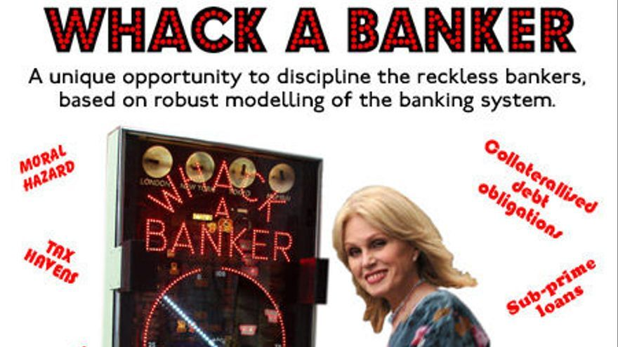 En 'Whack a banker', los jugadores se desahogan golpeando a banqueros