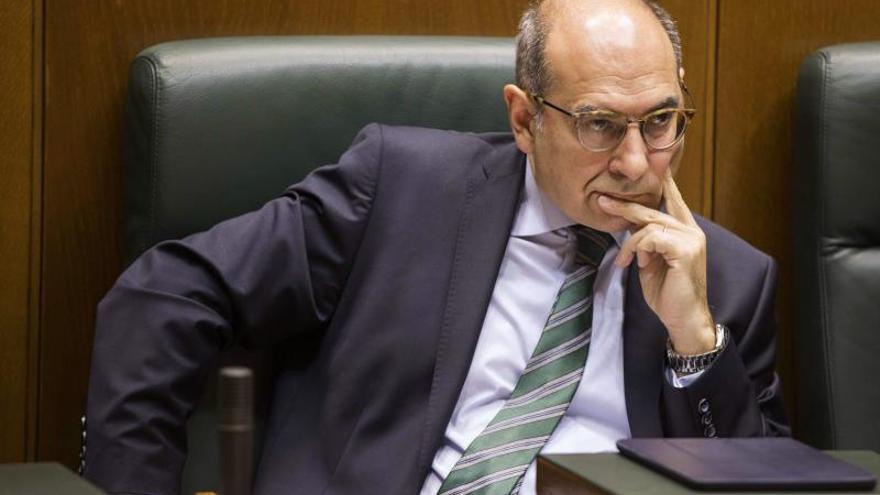 Jon Darpón, en el Parlamento