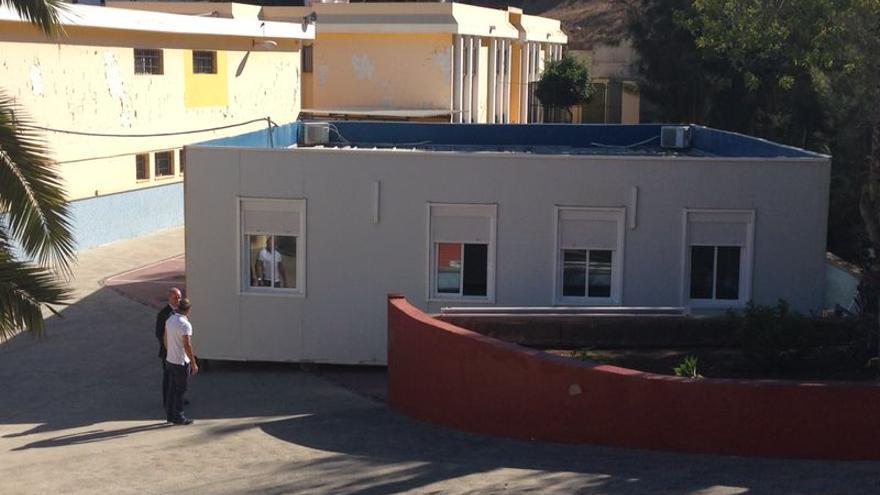 Una de las aulas modulares instaladas en el CEIP Boliche.