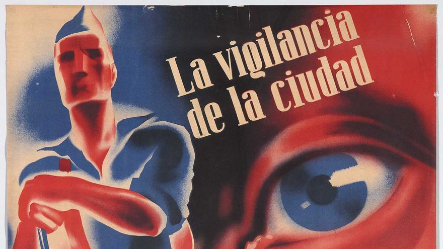 'La vigilancia de la ciudad debe de estar asegurada por la Guardia Popular Antifascista / Cartel Guerra Civil, 21, 1936-1937