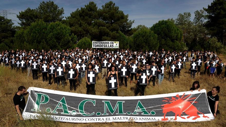 Manifestación de 2010 en Tordesillas. / PACMA