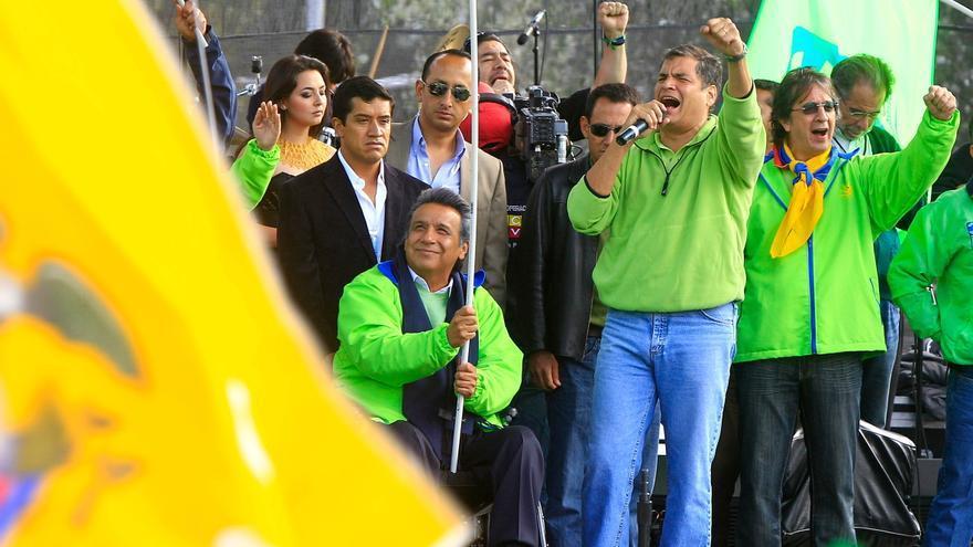 Correa congrega una multitud de simpatizantes en Quito y agradece el apoyo electoral