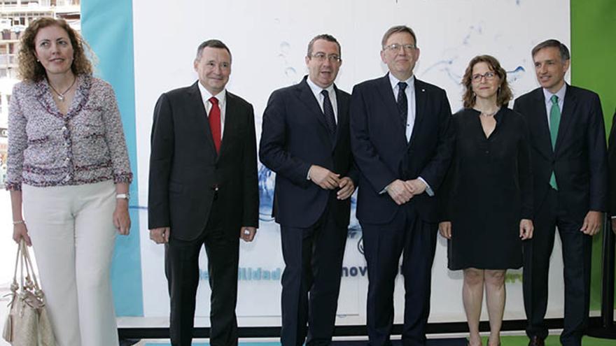 El president Ximo Puig y la consellera Elena Cebrián en la inauguración de Dinopsis
