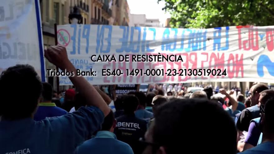 Fotograma del vídeo de la huelga de Movistar