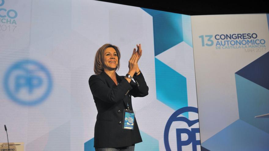 María Dolores Cospedal, en el XIII Congreso regional del PP-CLM