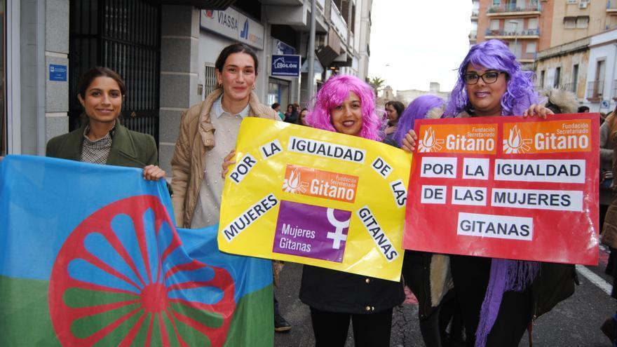 Mujeres gitanas en la protesta