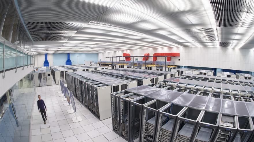 Imagen de un centro de procesamiento de datos.