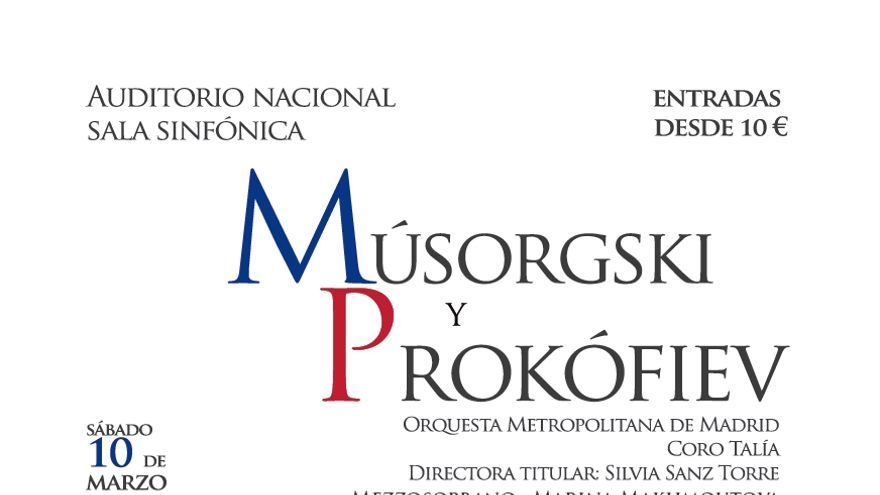 Cartel Músorgski y Prokófiev