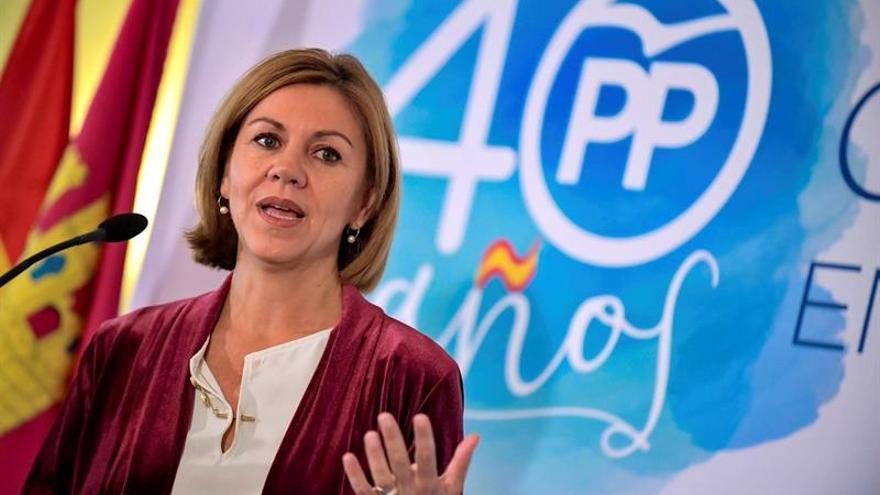 Cospedal: Albiol es quien mejor defiende  los intereses de una Cataluña española