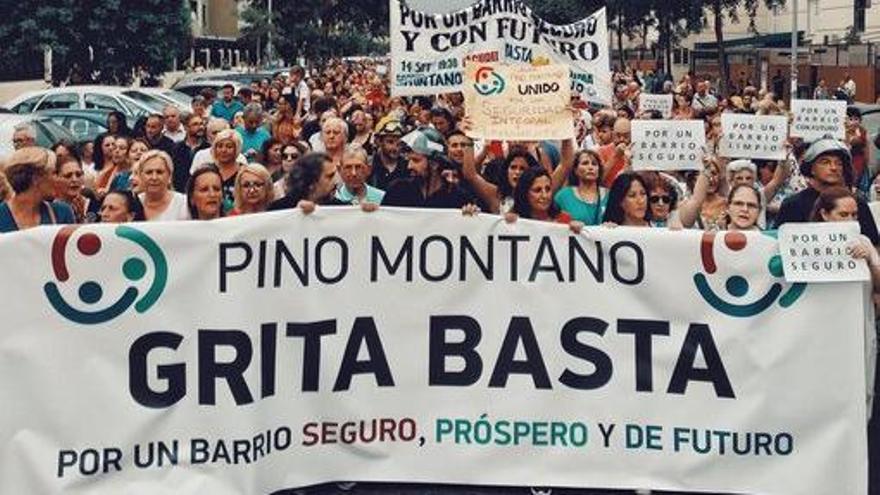 Imagen de la manifestación de aquel 14 de septiebre de 2018 en Pino Montano