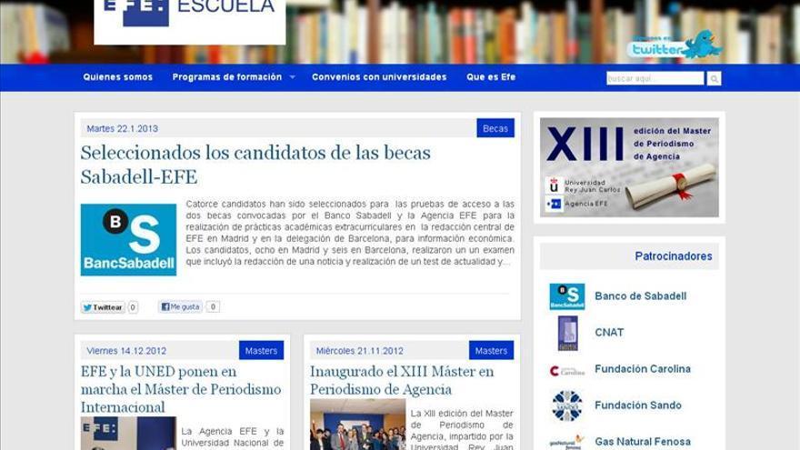 La Escuela de Formación de la Agencia EFE abre su web efeescuela.es