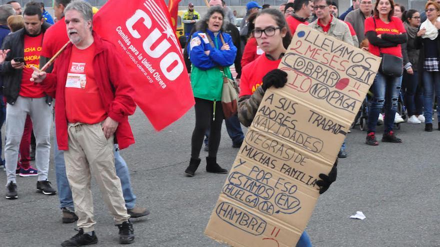 Protestas de trabajadores de Seguridad Integral Canaria.