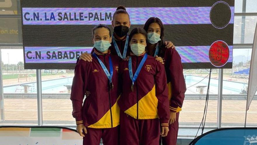 Oro para el relevo 4x200 Libres del Metropole en el Campeonato de España Infantil