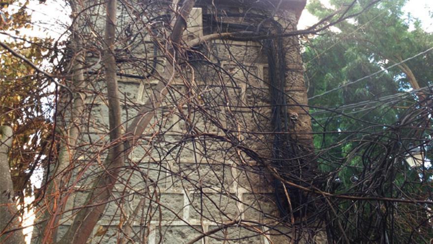 Marcas del incendio ocasionado por la falta de mantenimiento de una torreta de Endesa situada en El Madroñal (Santa Brígida)