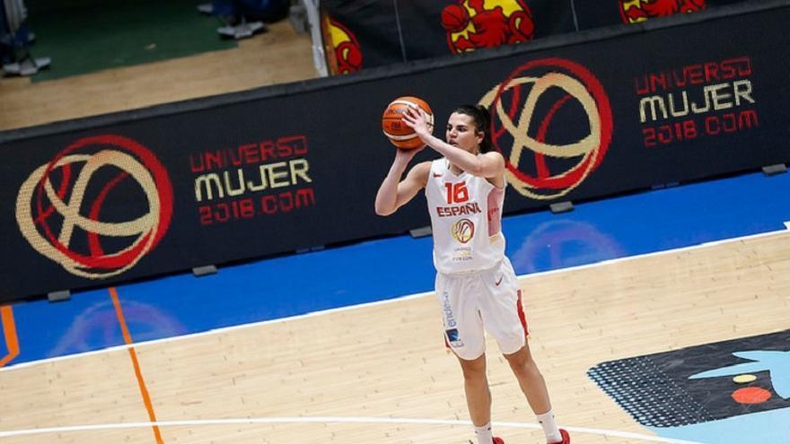 La jugadora grancanaria de la selección española de baloncesto, Leticia Romero.