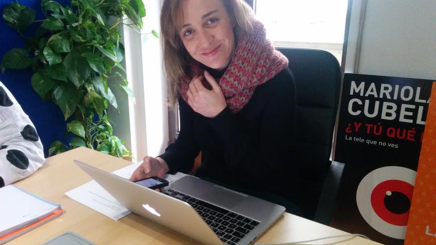 Tania Sánchez, durante la entrevista digital en eldiario.es. / Marilín Gonzalo