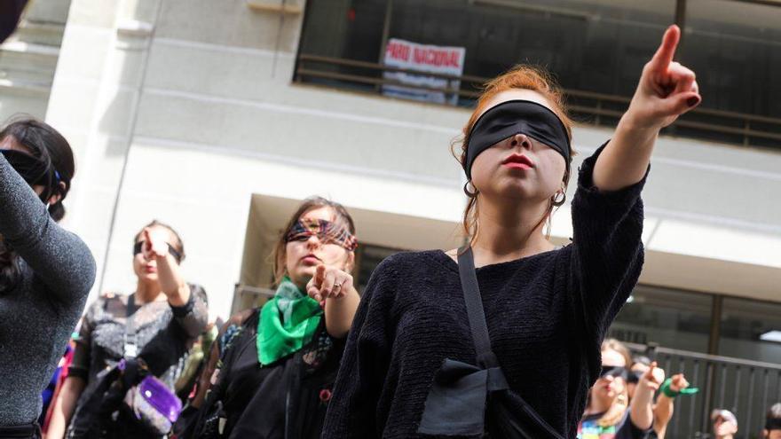 La intervención 'Un violador en tu camino', del colectivo Lastesis