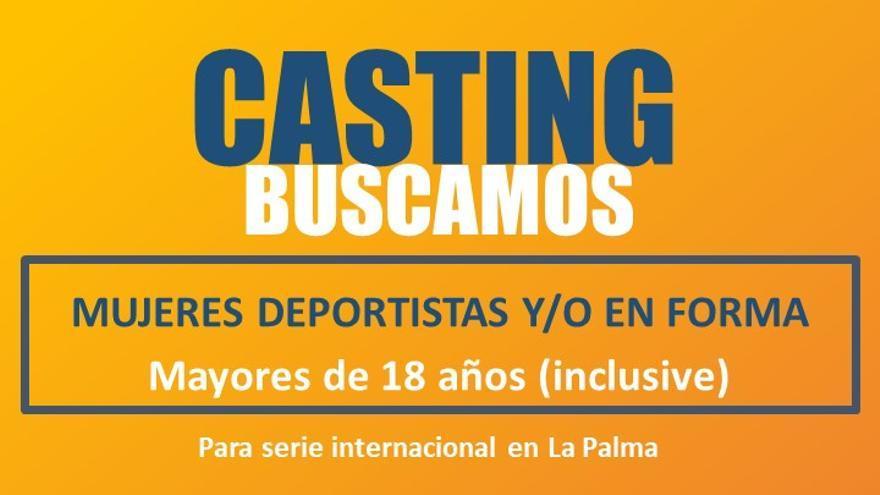 Cartel del casting para mujeres deportistas.