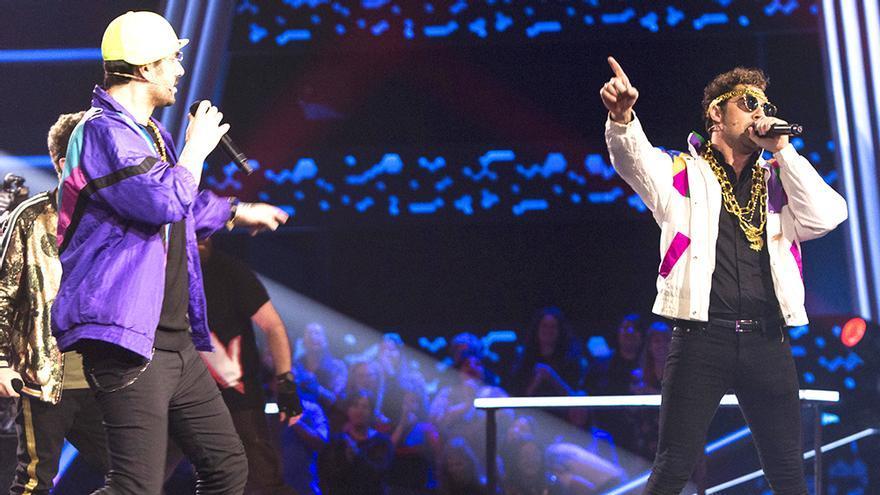 Melendi y Bisbal rapean por 'El príncipe de Bel Air' en 'La Voz Kids'