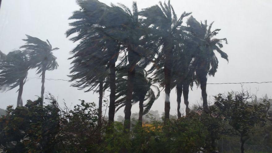 El viento puede superar los 100 km/h este jueves en el norte y zonas altas de La Palma