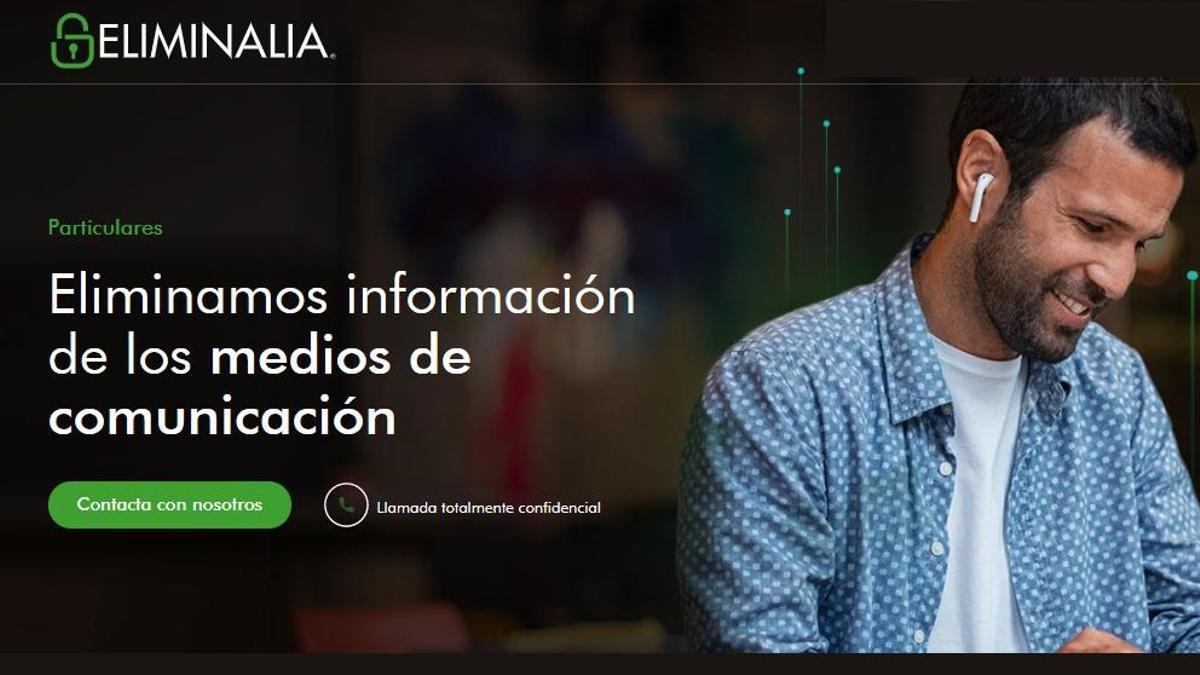 Página web de Eliminalia