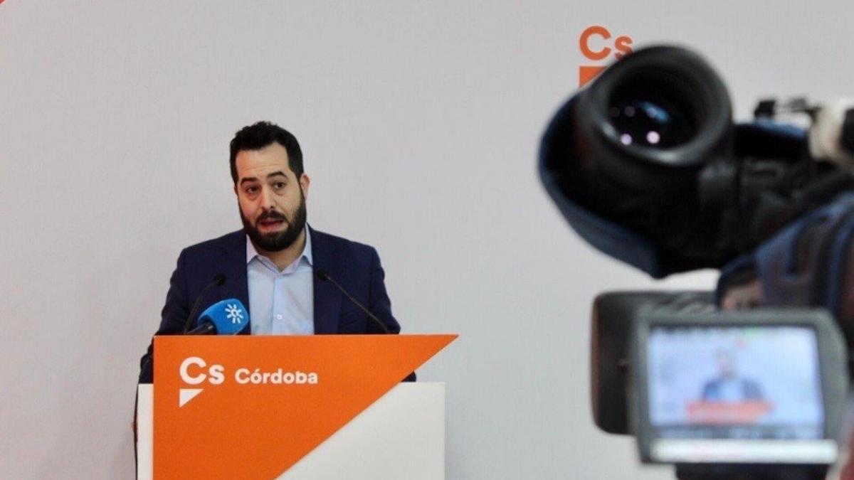 El portavoz de Ciudadanos en el Parlamento andaluz, Fran Carrillo.