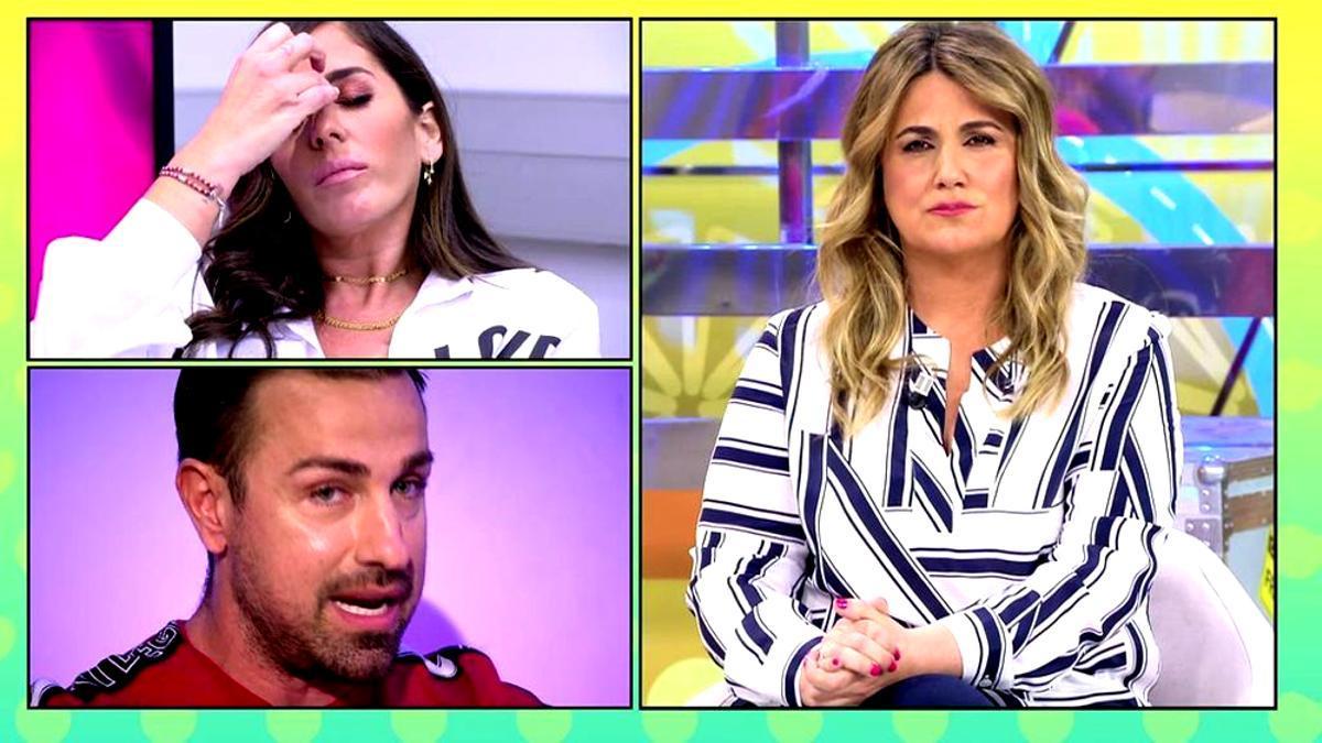 Anabel Pantoja, Rafa Mora y Carlota Corredera en 'Sálvame'