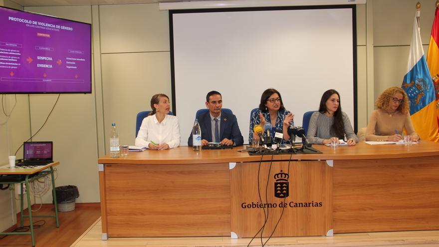 Presentación del protocolo de violencia de género elaborado por la Consejería de Educación, Universidades, Cultura y Deportes del Gobierno de Canarias.