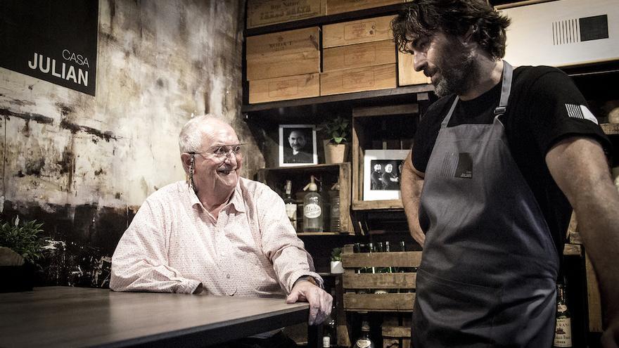 Arzak con Iñaki Gorrotxategi. Foto cedida por el restaurante