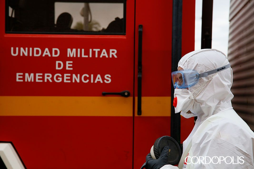 La UME y el Ejército han desinfectado 31 residencias de mayores de Córdoba | CORDÓPOLIS, el Diario Digital de Córdoba