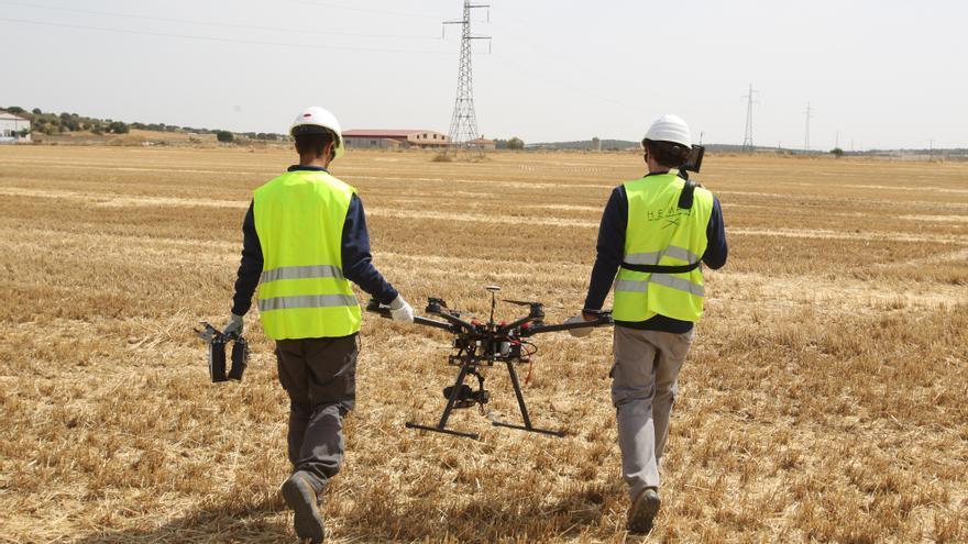 Dron para la red eléctrica. / Foto: Gas Natural Fenosa