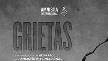Cartel de 'Grietas'.